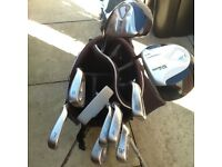 Ram golf bag and clubs