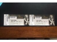 2 Tickets for Celine Dion @Hydro, Glasgow 05/08/17