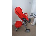 Stokke Xplory v4 and besafe izi sleep car seat