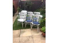 Six quality farmhouse dining / Kitchen Chairs