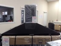 100cm black cooker hood. Dint in back. 12 month gtee