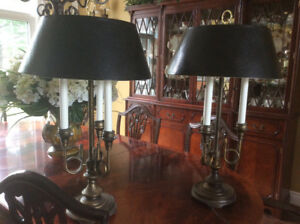 Pair of lamps,