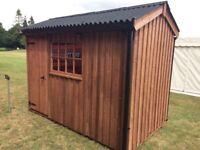 10x6 wooden garden shed ex norfolk show