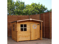 Wooden Rose Playhouse Wendy House Shed BRAND NEW unassembled with all fixings and felt