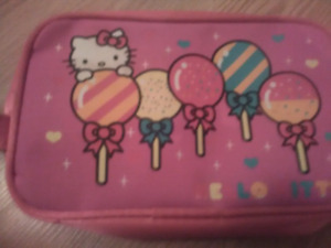 Hello kitty bag and jewelry box