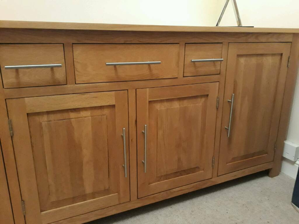Solid Oak Large Sideboard - REDUCED PRICE