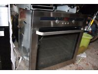 2no s/s integrated electric ovens and gas hobs. 1no s/s integrated microwave/grill