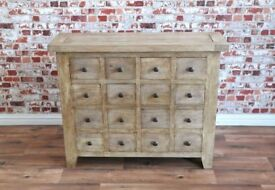 Rustic Apothecary Chest of Drawers Cabinet Antique Style Haberdashery - New