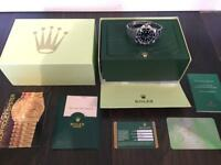 Rolex Sea Dweller Watch includes box and papers