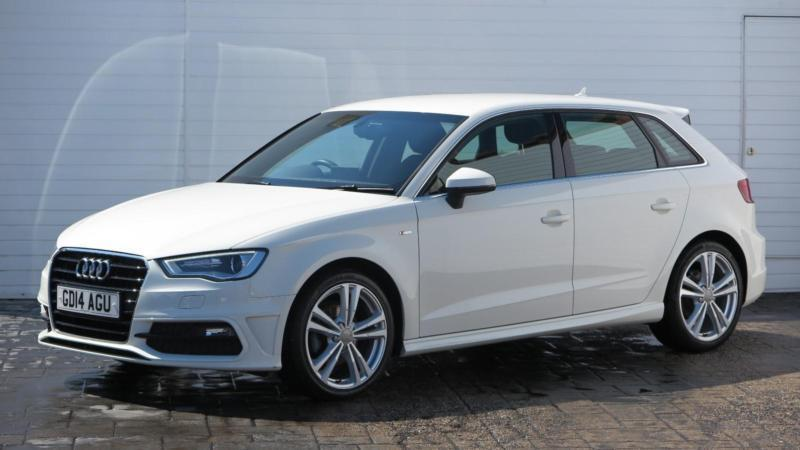 2014 audi a3 2014 14 audi a3 1 6 tdi s line sportback diesel white manual in middlesbrough. Black Bedroom Furniture Sets. Home Design Ideas