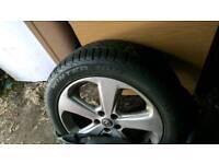 Original Vauxhall Mokka 18 inch alloy wheels with winter tyres x4