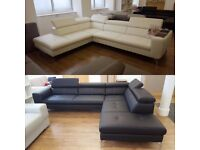 TEXAS modern corner sofa with comfortable backrests is equipped with adjustable head rests