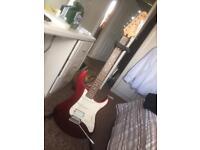Yamaha electric guitar, amp & accessories