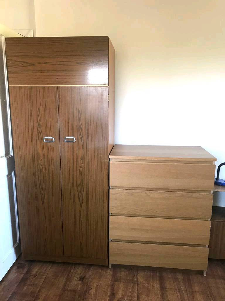 Very nice wardrobe and chest of drawers