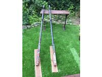 Cast iron clothes poles (2) for sale. Lovely condition. Can deliver if not too far away