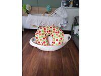 Mothercare moses basket, bath and feeding cushion