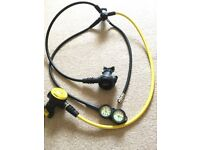 Mares Rover 2s regulator + octopus + twin console + BCD hose