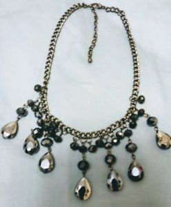 STUNNING BLACK ONYX NECKLACE WITH BEADS