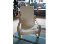 Ikea childs poang chair. Barely used. Reomovable/washable cover. Still available in Ikea (£24)