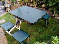 Folding Camping table bench set