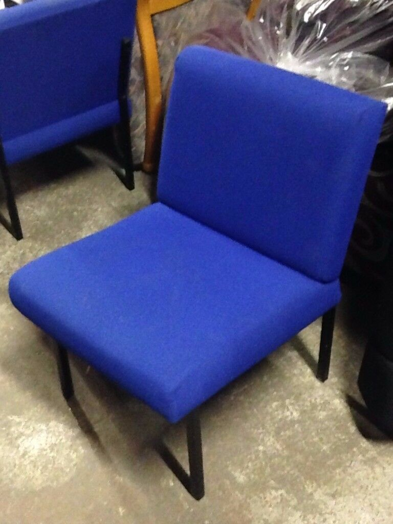 Blue Fabric Office/Reception Chairs