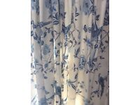2 pairs of Laura Ashley Summer Palace curtains 162x137cm cm