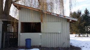 Nice rough cut fir post and beam barn or small home etc.