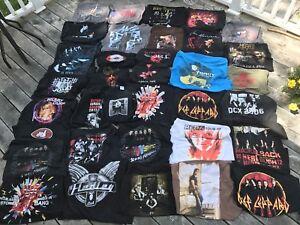 Lot of 35 concert tour-shirts