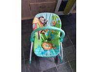 Baby start baby to toddler vibrating chair.