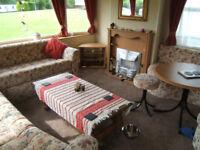 Static caravan for sale. 36' x 12' Cosalt 6 berth. £5,500