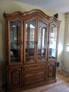 FREE - wooden china cabinet - great condition