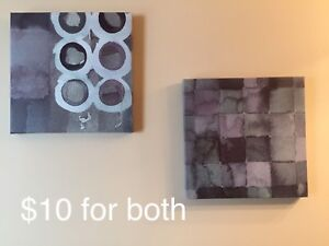 Canvas pictures and mirror