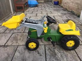 Child's Pedal John Deere Tractor