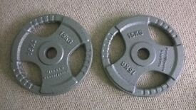15kg Olympic tri grip weight plates