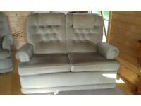 2 seater sofa and 1 x recliner chair