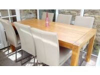 Oak Dining Table and 6 Chairs. Never Used.