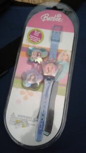 Beautiful barbie watch with 3 changeable faces for sale