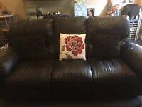 3 SEATER & 2 SEATER LEATHER RECLINERS (FOR SALE OR SWAP)