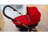 Mamas & Papas Solo Push chair and carry cot, including car seat adaptors
