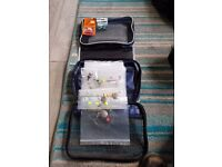 sea fishing gear with all tracers 2 spare spools and also includes rod bag and tackle bag.