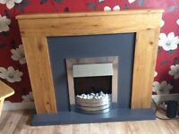 Solid wood fireplace from Next