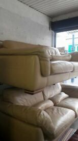 italian real leather sofa suite 3+3+3 only for £800