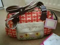Blooming Gorgeous Pink Lining changing bag