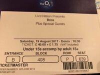 3 X BROS Tickets