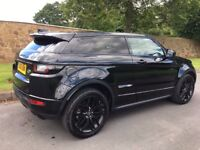 Range Rover Evoque Coupe HSE Dynamic Luxury. Black with Full Black Pack & Panoramic Roof