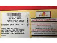 2 Saturday V Festival Tickets