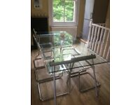 Habitat Lagon clear glass dining table top