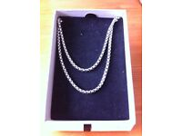 22 Inch Stainless Steel Box Chain Necklace