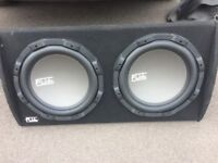 FLI 2 x 12 inch sub including amp excellent condition