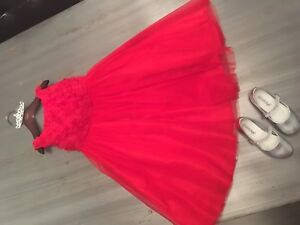 Red Flower Girl dress - Robes Rouge Bouquetière